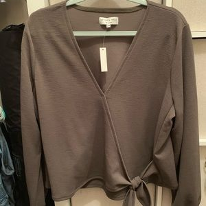 Wrap blouse from Madewell